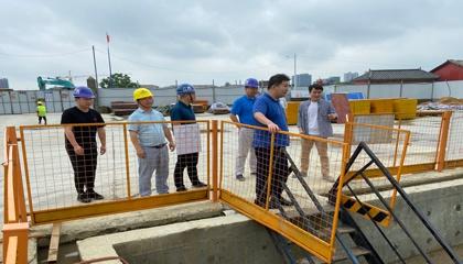 南昌市质监站检查青山湖区污水全收集全处理第一批项目